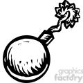 cartoon bomb with wick