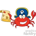 5314-Pirate-Crab-Holding-A-Treasure-Map
