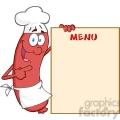 happy-sausage-chef-cartoon-mascot-character-showing-menu  gif, png, jpg, eps, svg, pdf