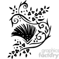 Chinese swirl floral design 015