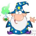 royalty free crazy wizard holding a green magic potion