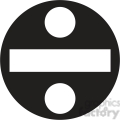 black circle division sign clipart  gif, png, jpg, eps, svg, pdf