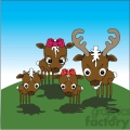 cartoon deer family in color  gif, png, jpg, eps, svg, pdf