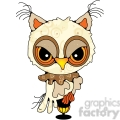 owl side view colored  gif, png, jpg, eps, svg, pdf