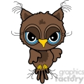 owl front view in color  gif, png, jpg, eps, svg, pdf