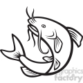 black and white catfish jump mp  gif, png, jpg, eps, svg, pdf