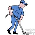cleaner vacuuming the floor