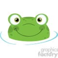 5656 Royalty Free Clip Art Cute Frog Logo Smiling From Water