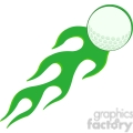 5693 Royalty Free Clip Art Flaming Golf Ball In Green