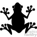 5637 Royalty Free Clip Art Black Frog Silhouette Logo