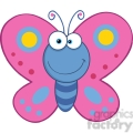 5613 royalty free clip art smiling butterfly cartoon mascot character  gif, png, jpg, eps, svg, pdf