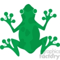 5639 Royalty Free Clip Art Green Frog Silhouette Logo
