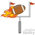 6566 royalty free clip art flaming american football ball with goal  gif, png, jpg, eps, svg, pdf