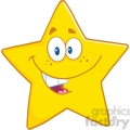 6716 Royalty Free Clip Art Smiling Star Cartoon Mascot Character