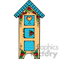 colorful birdhouse cupboard