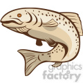 rainbow trout jumping up shape