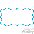 blue lines frame swirls boutique design border 9