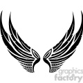 vinyl ready vector wing tattoo design 059
