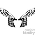 vinyl ready vector wing tattoo design 001