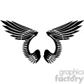 vinyl ready vector wing tattoo design 021