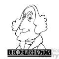 george washington black white