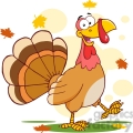 6847_royalty_free_clip_art_happy_turkey_cartoon_mascot_character_walking