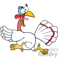 6888_royalty_free_clip_art_white_turkey_escape_cartoon_mascot_character  gif, png, jpg, eps, svg, pdf