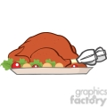 Royalty Free RF Clipart Illustration Roasted Turkey Cartoon Illustration