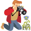 photographer illustration photos of flowers  gif, png, jpg, eps, svg, pdf