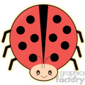 cartoon Ladybug illustration clip art image