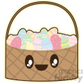Easter Basket cartoon character illustration