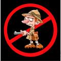 no safari hunting sign