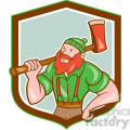 paul bunyan carry axe front shield  gif, png, jpg, eps, svg, pdf
