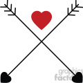 two arrows crossed with heart  gif, png, jpg, eps, svg, pdf