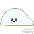 Igloo cartoon character vector image