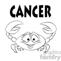 horoscope cancer crab black and white