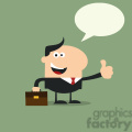 8259 Royalty Free RF Clipart Illustration Happy Manager Giving Feedback In Modern Flat Design Vector Illustration