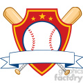 baseball shield banner with two bats and ball  gif, png, jpg, eps, svg, pdf
