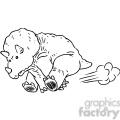 running triceratops vector RF clip art images
