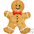 Gingerbread man geometry geometric polygon vector graphics RF clip art images