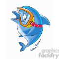 dallas the cartoon dolphin wearing scuba mask  gif, png, jpg, eps, svg, pdf