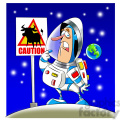 scott the astronaut cartoon character surprised by weird sign  gif, png, jpg, eps, svg, pdf