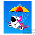 airplane crash landing parachute skyler