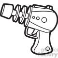 toy laser gun cartoon vector image outline  gif, png, jpg, eps, svg, pdf
