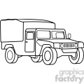 military armored medic vehicle outline