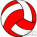 sports equipment red white volleyball