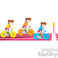 olympic cycling illustration