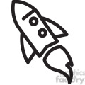 rocket in space vector icon  gif, png, jpg, eps, svg, pdf