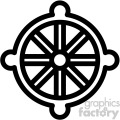 buddhism wheel dharma symbol vector icon