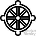 buddhism wheel dharma symbol vector icon  gif, png, jpg, eps, svg, pdf